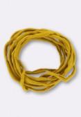 Tubulaire de soie Habotai amber 3mm x1m