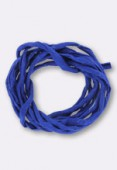 Tubulaire de soie Habotai dark blue 3mm x1m
