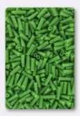 Miyuki bugle 6 mm opaque green x10g