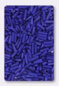 Miyuki bugle 6 mm opaque cobalt x10g