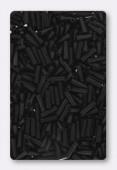 Miyuki bugle 6 mm matte black x10g