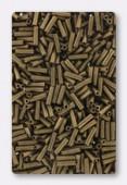 Miyuki bugle 6 mm matte metallic dark bronze x10g
