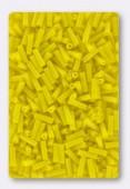 Miyuki bugle 6 mm opaque yellow x10g