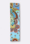 Ruban stretch 30 mm pattern turquoise x1m