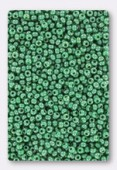 Rocaille 2 mm Green opaque luster x20g