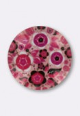 Cabochon en verre bouquet de roses 14 mm x2