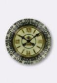 Cabochon en verre horloge 14 mm x2