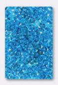 Ronde aplatie 4x2.5 mm capri blue x50