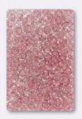 Ronde aplatie 4x2.5 mm rose opal x50