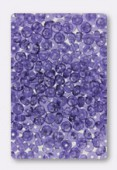 Ronde aplatie 4x2.5 mm deep violet x50