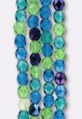 Facette 4 mm mix pacific blue x100