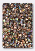 Facette 4 mm crystal copper rainbow x50