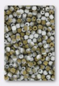 Facette 2 mm chalk white amber matted x50