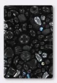 Lot de perles en verre de bohême noir x100g
