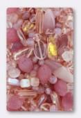 Lot de perles en verre de bohême rose x100g