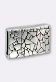 Fermoir aimanté pour cuir plat 10x3 mm argent vieilli x1