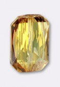 Emerald Cut Bead 5515 18x12.5 mm crystal metallic sunshine x1