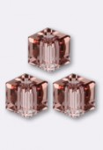 Cube 5601 4 mm blush rose x6