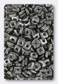 Quad bead 4 mm hematite x10gr