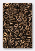 Quad bead 4 mm bronze x10gr