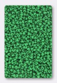 Rocaille 2 mm dark lime green opaque x20g