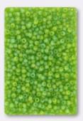 Rocaille 2 mm matte olivine AB x20g