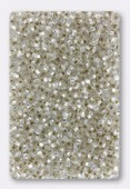 Rocaille 2 mm crystal silver-lined x20g