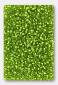 Rocaille 2 mm olivine silver-lined x20g