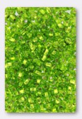 Rocaille 4 mm olivine silver-lined x20g