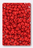 Rocaille 4 mm bright red opaque  x20g