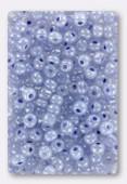 Rocaille 4 mm ceylon bleu grisé x20g