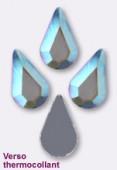 Strass goutte HOTFIX 2300 8x4,8 mm crystal AB M HF x6