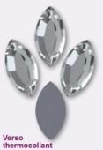 Strass navette HOTFIX 2200 8x4 mm crystal M HF x6