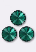 Cabochon rivoli 1122 12 mm emerald F x1