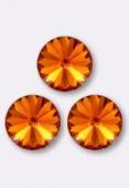 Cabochon rivoli 1122 12 mm tangerine F x1