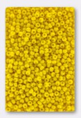 Rocaille 2 mm yellow opaque x20g
