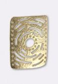 Intercalaire en métal martelé ajouré 42x30 mm or x1