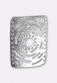 Intercalaire en métal martelé ajouré 42x30 mm argent x1