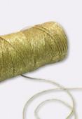 Coton enduit métallisé or 1 mm x1m