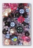 Lot de perles en verre de bohême baby pink x100g