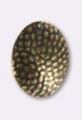 Estampe sequin martelé 31x24 mm bronze x2
