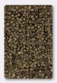 Miyuki Square beads 1.8 mm SB2006 matt metallic dark bronze x10g