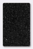 Miyuki Square beads 1.8 mm SB0401F black matted x10g