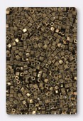 Miyuki Square beads 1.8 mm SB-0457 metallic dark bronze x10g