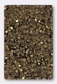 Miyuki Square beads 1.8 mm SB0457 metallic dark bronze x10g