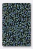 Miyuki Square beads 1.8 mm SB2064 Matt metallic blue green iris x10g