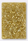 Miyuki Square beads 1.8 mm SB-0003 gold silver lined x10g