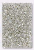 Miyuki Square beads 1.8 mm SB-0001 crystal silver lined x10g