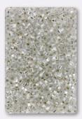 Miyuki Square beads 1.8 mm SB0001 crystal silver lined x10g