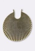 Estampe pendentif éventail 45 mm bronze x1